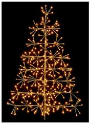 PREMIER LV191433G  60Cm Gold Tree Starburst With Ww